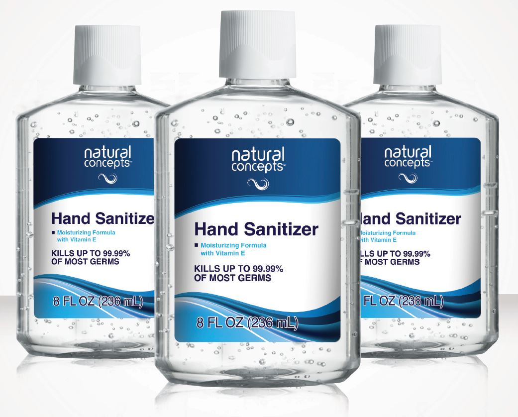 Natural Concepts Hand Sanitizer Gel 236ml Squirt Top